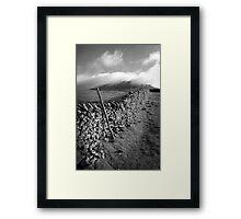 The Peak Wall - Yorkshire Framed Print