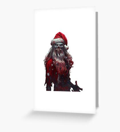 Zanta Claws - Zombie Santa Greeting Card