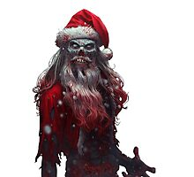 Zanta Claws - Zombie Santa Photographic Print