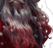 Zanta Claws - Zombie Santa Sticker