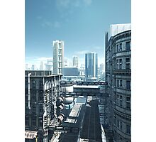 Future City - Deserted Streets Photographic Print