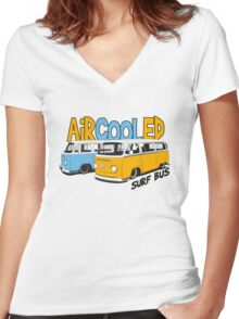 VW Surf Bus Pair Women's Fitted V-Neck T-Shirt