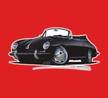 Porsche 356 C Cabriolet Black One Piece - Short Sleeve