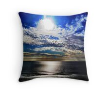 Cliff top reflections... Throw Pillow