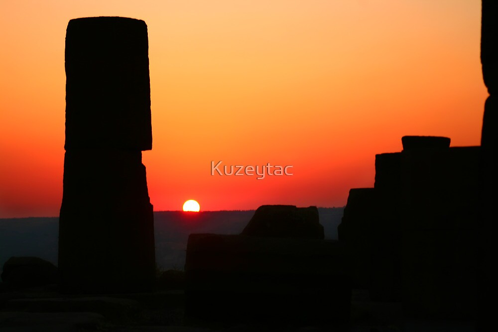 Sunset At The Athena Temple by Kuzeytac
