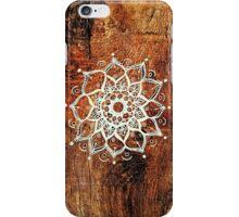 Mandala - One - Wood Texture  iPhone Case/Skin