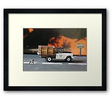 Their timely arrival and location will definitely bode well for the cat. Framed Print