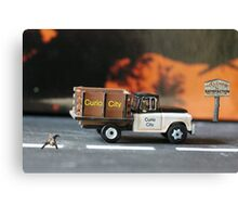 Their timely arrival and location will definitely bode well for the cat. Canvas Print