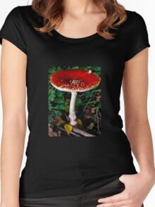 Beautiful,poisonous fungus. Women's Fitted Scoop T-Shirt