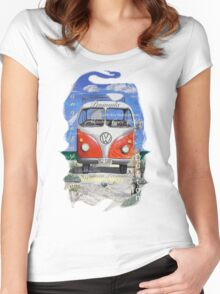 Eyre Peninsula, Beach Kombi Women's Fitted Scoop T-Shirt