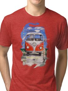 Eyre Peninsula, Beach Kombi Tri-blend T-Shirt