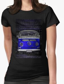 Volkswagen combi Blue  Womens Fitted T-Shirt