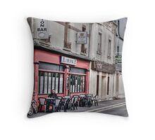 Cafe Bar Throw Pillow
