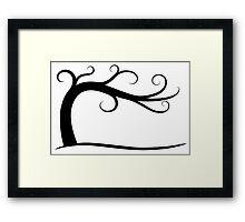 Late September Curly Tree Framed Print
