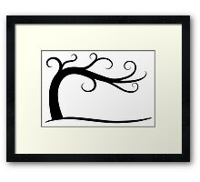 Late September Curly Tree Framed Print