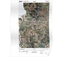 USGS Topo Map Washington State WA La Conner 20110504 TM Poster