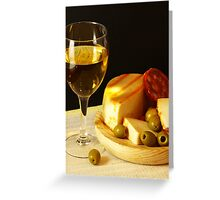 White, Cheese, Sausage and Olives 02 Greeting Card