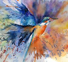 """As kingfishers catch fire..."" by Gill Fox"