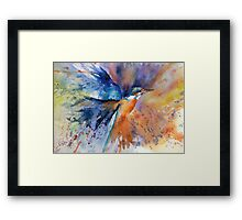 """""""As kingfishers catch fire..."""" Framed Print"""