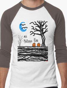 halloween jack o lantern all hallows eve Men's Baseball ¾ T-Shirt