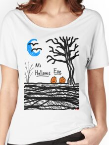 halloween jack o lantern all hallows eve Women's Relaxed Fit T-Shirt
