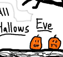 halloween jack o lantern all hallows eve Sticker