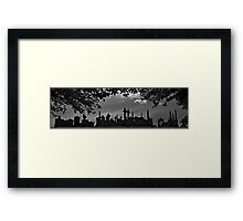 Tombstone City Panorama Framed Print