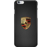 Porsche Emblem - Carbon Fiber  iPhone Case/Skin
