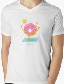 Yoga Donut Mens V-Neck T-Shirt