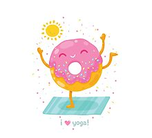 Yoga Donut Photographic Print