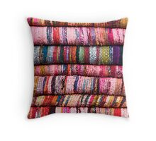 Multicolored rugs Throw Pillow