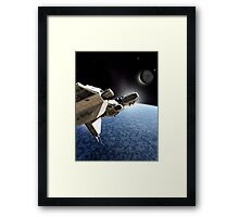 Passing the Ice Planet Framed Print