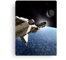 Passing the Ice Planet Canvas Print