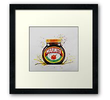 Marmite, Love it or Hate it! Framed Print