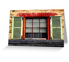 Old charm window Shutters Greeting Card
