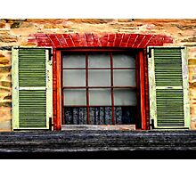 Old charm window Shutters Photographic Print