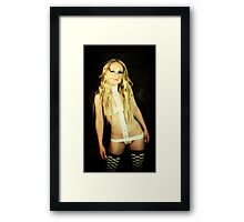 Portrait of an Actress by Aquinas Framed Print