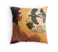 Memory of Flight Throw Pillow