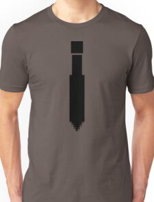 Digital Tie Shirt - Black Unisex T-Shirt