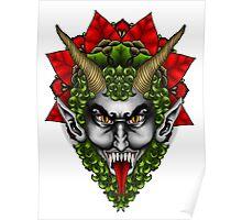 Krampus Wreath  Poster