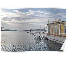 Blue Light At Pula Harbour -October 2012 Poster