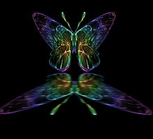 Galactic Butterfly reflection by Marvin Hayes