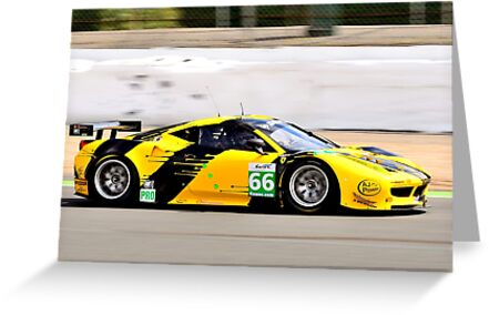 Ferrari 458 No 66 by Willie Jackson