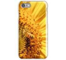 Pollen Covered Bee on Sunflower iPhone Case/Skin