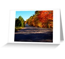 The Right Road at the Right Time  Greeting Card