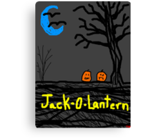 halloween jack o lantern Canvas Print