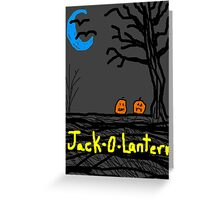 halloween jack o lantern Greeting Card