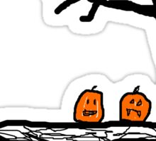 halloween jack o lantern Sticker