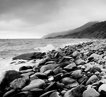 Black and White Beach by michelsoucy