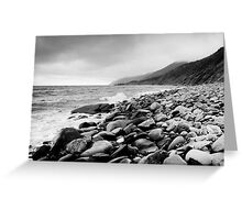 Black and White Beach Greeting Card